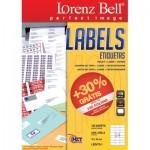 Etiquetas Lorenz Bell 70 x 36 mm - 100 Folhas