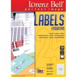 Etiquetas Lorenz Bell 25.4 x 10 mm - 25 Folhas