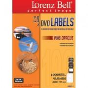 CD&DVD Labels Plus Opaque - 200 Labels