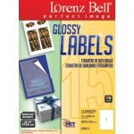 Glossy Labels 297 x 210 mm - 15 Sheets