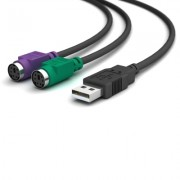 USB Am para Mini-Din 6f (PS/2)