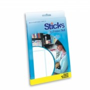 Etiquetas Multiusos Sticks 50x100mm - 20 Folhas A5