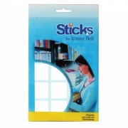 Etiquetas Multiusos Sticks 25x25mm - 5 Folhas A6