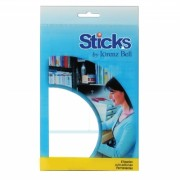 Etiquetas Multiusos Sticks 50x50mm - 5 Folhas A6