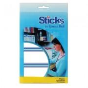 Etiquetas Multiusos Sticks, Moldura Azul 34x75mm - 8 Folhas A6